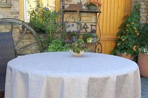 Abwaschbare Tischdecke Rund : abwaschbare tischdecke leonardo acryl rund silbergrau ~ Michelbontemps.com Haus und Dekorationen