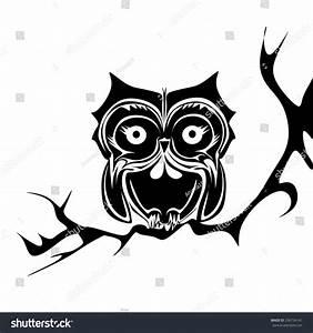 Black White Owl Vector Stock Vector 236734141 - Shutterstock