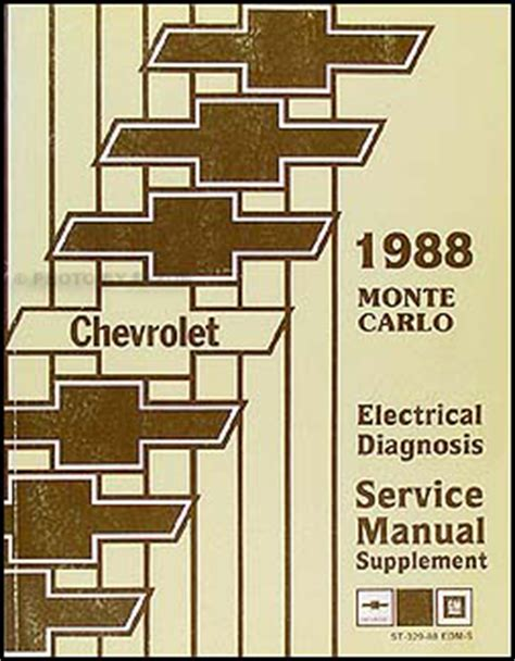 Chevy Monte Carlo Electrical Diagnosis Manual Wiring