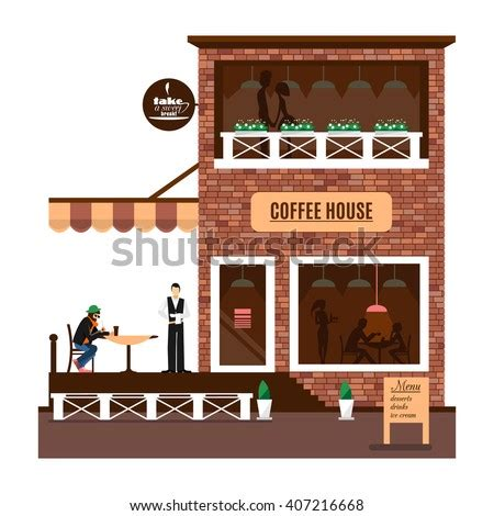 Download high quality coffee shop cartoons from our collection of 41,940,205 cartoons. Restaurant Cafe Icon Isolated On White Stock Vector ...