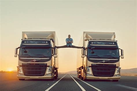 volvo trucks unleashes amazing jean claude van damme ad