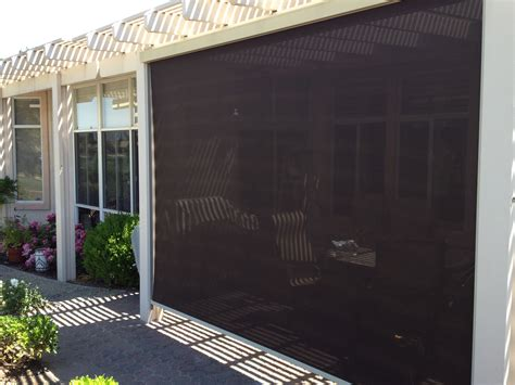 retractable sun shades vertical screens