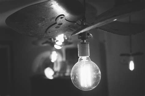 Free Stock Photo Of Black And White Idea Light Bulb