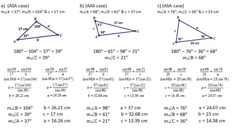 8 5 law of sines form g answer key high school geometry common core g srt 10 derive sine