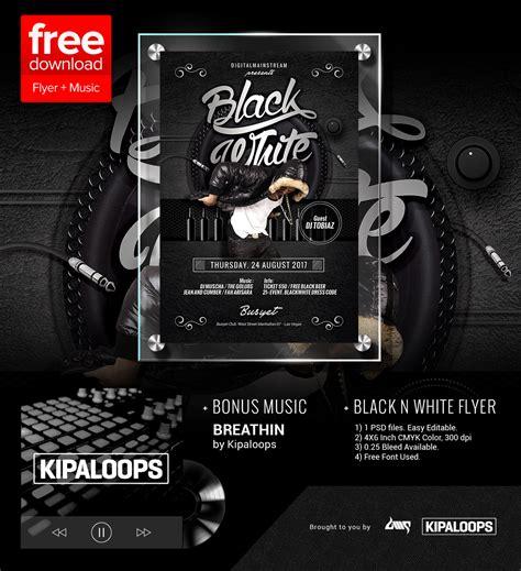 black  white club flyer template
