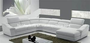 Sofa En Cuir Sectionnel Chinois Moderne De Tissu De Coin