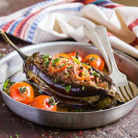 recette aubergine farcie  la viande   la tomate
