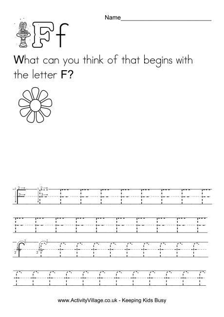 handwriting alphabet f