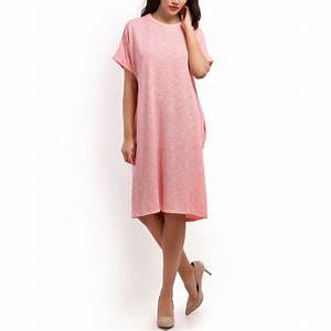 robe t shirt rose oversize pas cher la modeuse With t shirt robe