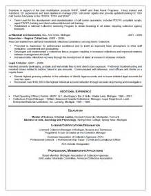sle collection supervisor resume collection manager resume