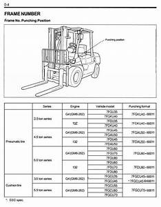 Original Illustrated Factory Workshop Service Manual For Toyota Lpg Forklift Truck Type 7fg