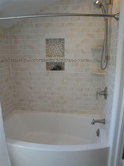 bathtub tile surround on tile tub surround