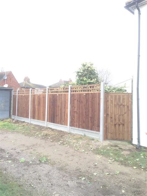 7 Foot Trellis by 7 Foot High Fencing With Trellis J A Contracts