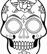 Skull Sugar Simple Drawing Coloring Printable Skulls Template Stencil Adults Tattoo Comprehensive Clipartmag Grownup Coloriage Crossbones Colouring Bones Grown Decal sketch template