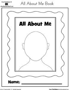 17 best images of getting to yourself worksheet 607 | all about me preschool printables 98069