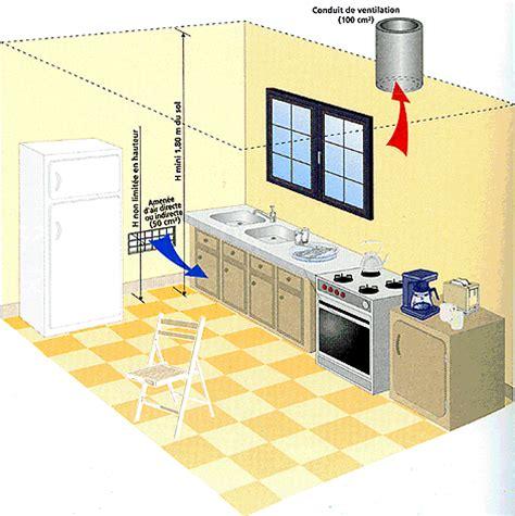 ventilation cuisine professionnelle normes aérations et ventilations obligatoires pour le gaz