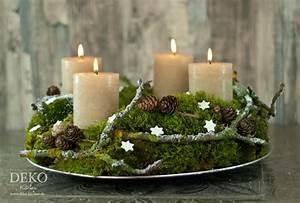 Adventskranz Ideen 2016 : diy adventskranz aus naturmaterial mit moos zweigen deko kitchen ~ Frokenaadalensverden.com Haus und Dekorationen