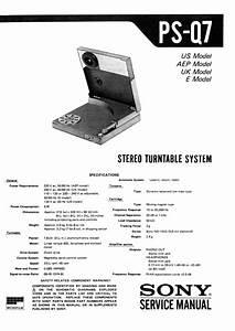 Sony Ps-q7 Service Manual