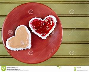 Heart Shape Peanut Butter And Jelly Sandwtich Royalty Free ...