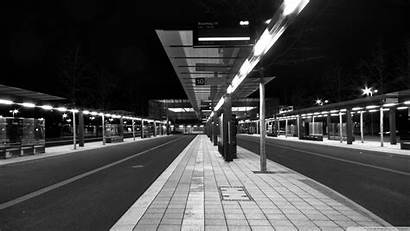 Bus Station Stop Anime Wallpapers Subway Animated