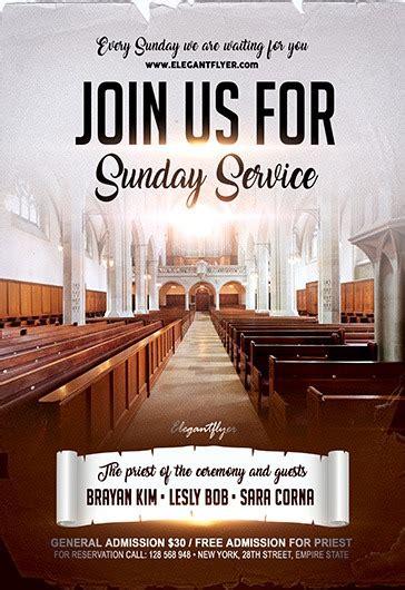 join   sunday service flyer psd template