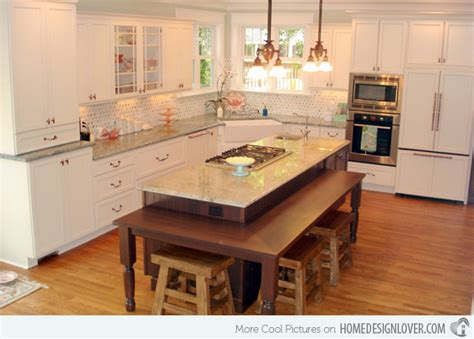 kitchen table or island 15 beautiful kitchen island with table attached