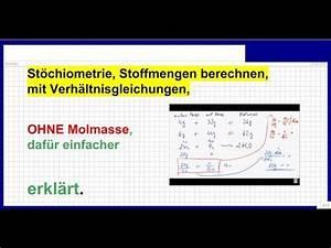 Autosteuer Berechnen Mit Schlüsselnummer : st chiometrie stoffmenge berechnen einfach erkl rt mit verh ltnisformel chemie youtube ~ Themetempest.com Abrechnung