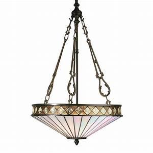 Tiffany art deco uplighter ceiling pendant light