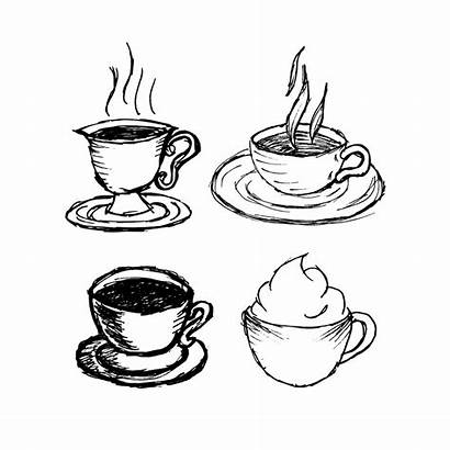 Coffee Cup Cups Drawn Drawing Draw Paper