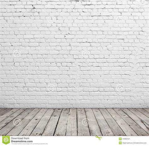 white brick floor white brick wall and wood floor stock photo image 41960101