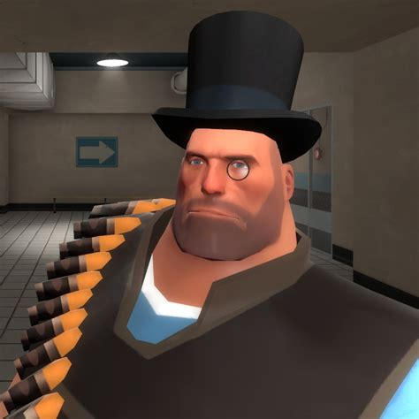 Heavys Top Hat Monocle Team Fortress  Skin Mods