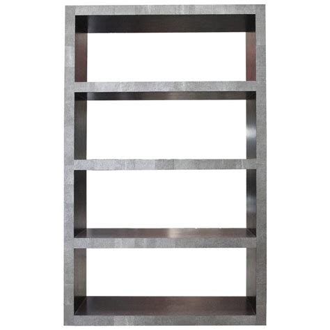 Leather Bookcase by Faux Shagreen Leather Bookcase Or Shelves By Fabio Bergomi