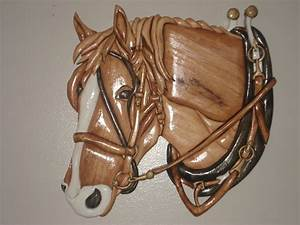 Work horse $140 00 intarsia Pinterest