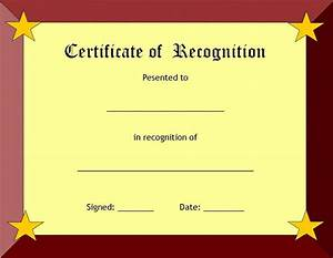 recognition certificates certificate templates With free template for certificate of recognition