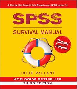 Spss Survival Manual  A Step By Step Guide To Data