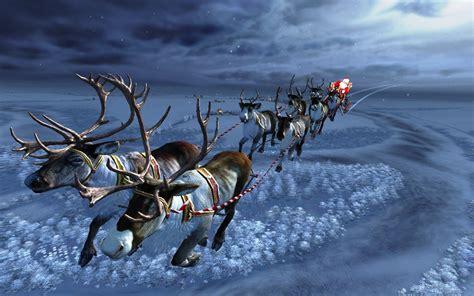 Animated Santa Wallpaper - santas sleighride wallpaper nature and landscape