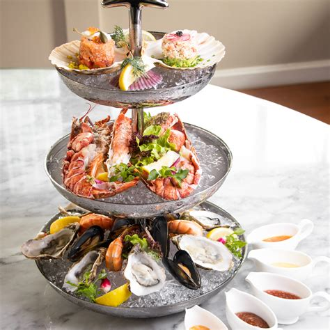 seafood tower brasserie fine french cuisine