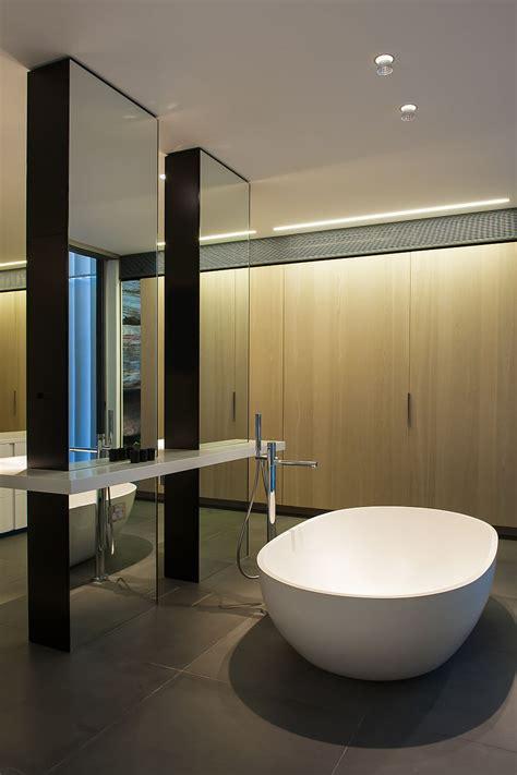 contemporary ensuite bathroom  cutting edge design