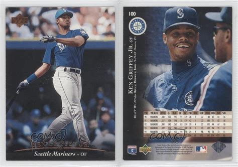 1995 deck 100 ken griffey jr seattle mariners jr baseball card ebay