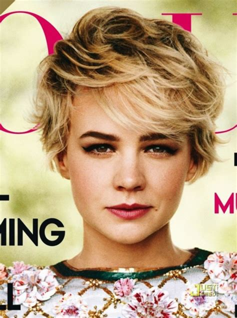 carey mulligan cute short ombre pixie cut hairstyles weekly