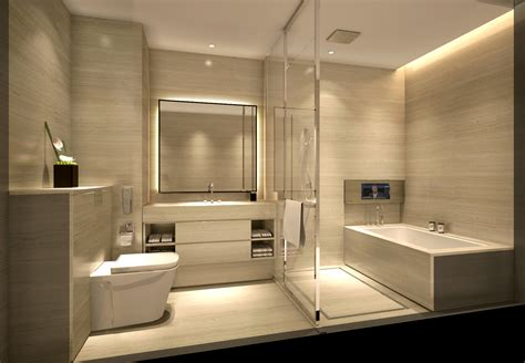 Modern Hotel Bathroom Design by L2ds Lumsden Leung Design Studio Service Apartment