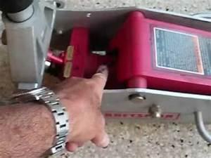 Floor jack repair Sears Craftsman 50240 by froggy - YouTube
