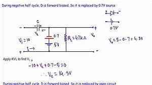 Biased Positive Clamper Circuit   Example