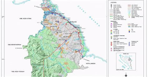 peta kota peta kabupaten aceh timur