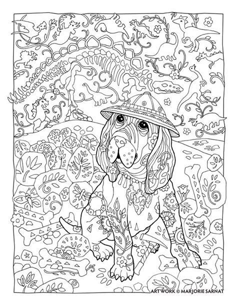 creative haven dazzling dogs coloring book  marjorie sarnat paleontologist marjorie