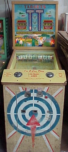 1959 Bally Targets baseball pinball arcade game