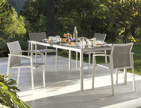 table chaises jardin table et 6 chaises de jardin en aluminium brin d 39 ouest