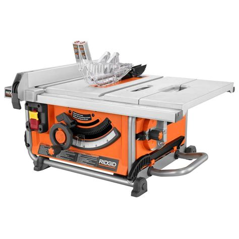 ridgid 15 10 in compact table saw ridgid 15 amp 10 in compact table saw r45161 the home depot
