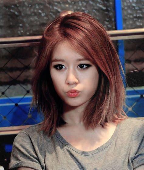 ara jiyeons lob hairstyle kpop korean hair  style