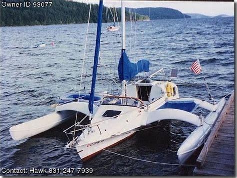 Trimaran Inside Passage by 1995 Argonaut Trailerable Trimaran Pontooncats